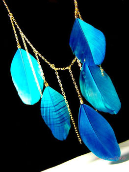 12pcs/lot #6colors long feather Necklace Necklaces Feather accessory jewelry hot sale native american indian style alloy Z06