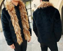 Mens Fur Collar Coat 2015 Winter Casual Mens Fur Collar Coat Black Outwear Coats Military Man Winter Jacket Men Parka Fur Coat