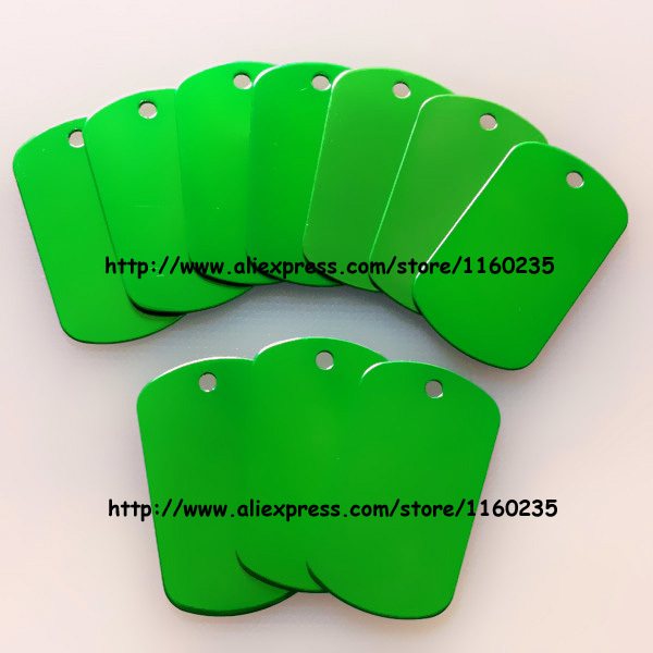 green color dog tags for men,anodized aluminum dog name tags collar,free shipping(China (Mainland))