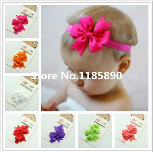 Christmas Gifts Baby Bow Headband Hair Bowknot Headbands Infant Hair Accessories Girls Bow Headband Toddler hair bands(China (Mainland))