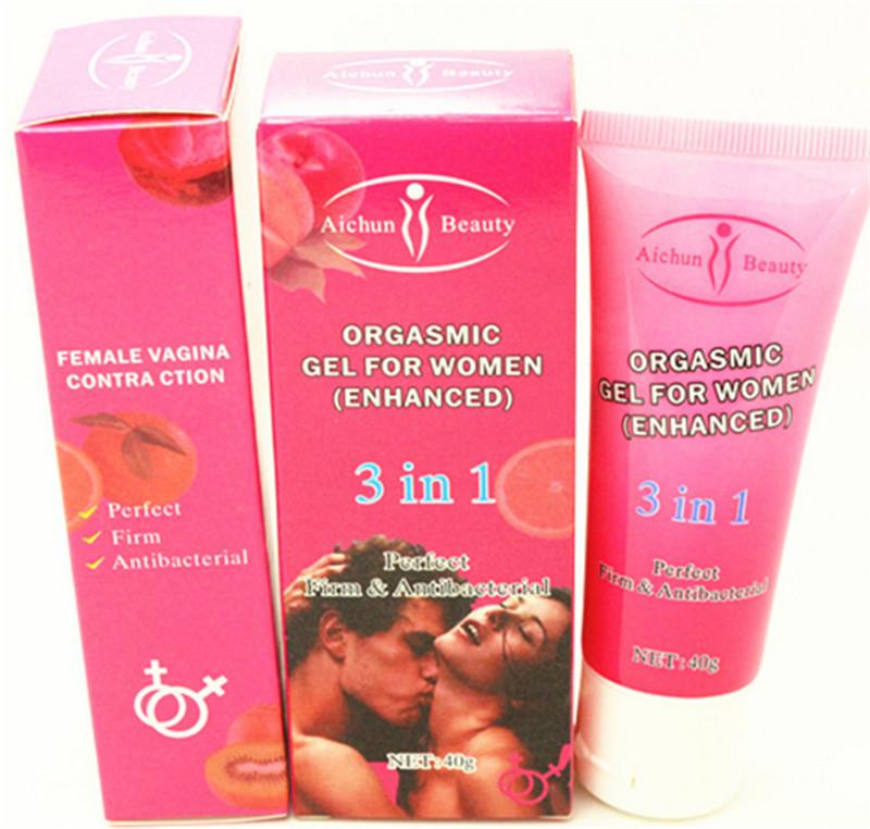 Super Lady Sex Products Aichun Vagina Orgasmic Sex Gel For Women Firm Tightening Sex Cream Good