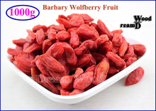 1000g  Goji Berry Organic Dried Wolfberry Ning Xia Barbary Wolfberry Fruit Goji Berry 1KG(2.2LB) Chinese Lycii Herbal Tea