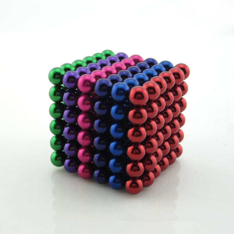 Six-color 5mm 216pcs Metaballs Magnetic Balls Magnet Neo Cube Magic Toys New Year Gift Xmas Christmas Gift Magico Metal Box(China (Mainland))