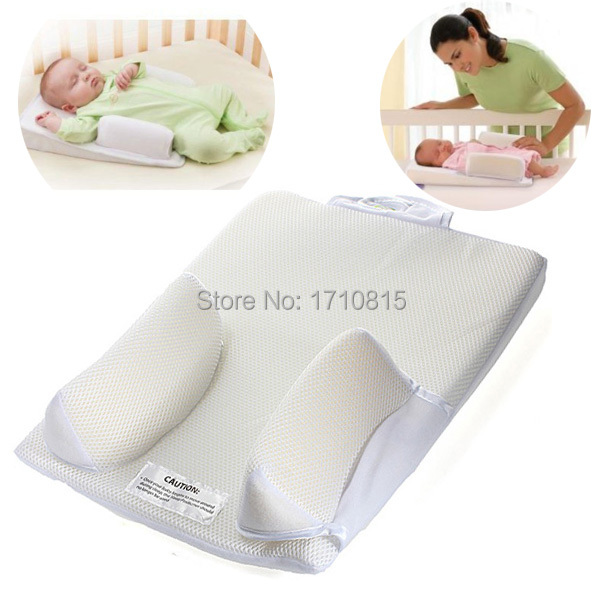 Baby Infant Newborn Anti Roll Pillow Ultimate Sleep Positioner System Prevent Flat Head Cushion(China (Mainland))
