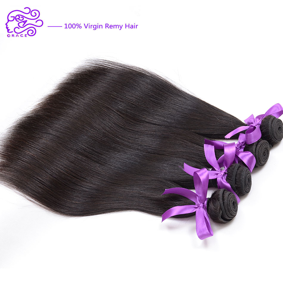 Brazilian Hair Weave 4 Bundles 6A Brazilian Virgin Hair Straight Queen Hair Products Unprocessed Virgin Brazilian Straight Hair