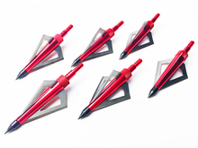 6pcs lot 100GR Hunting Arrowhead Broadheads 3blades Archery Arrow Head for Compound Bow Aluminum Stainless Steel