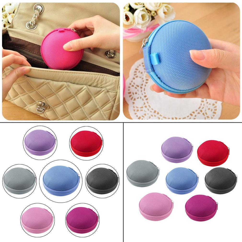 7 Colors PU leather Zipper Protective Headphone case Pouch Earphone Storage bag Soft Headset Earbuds box Usb cable organizer(China (Mainland))