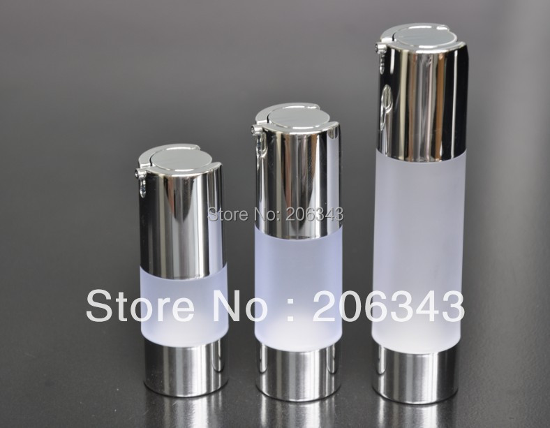 30ml frosted airless bottle with uv silver vacuum pump or lotion bottle used for Cosmetic Container(China (Mainland))