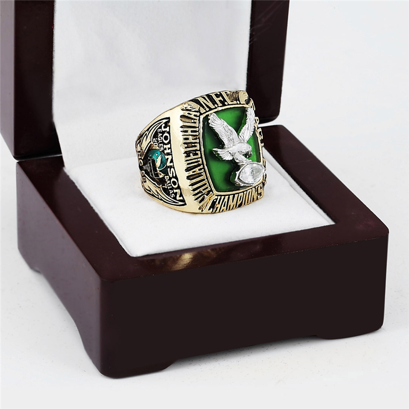 PHILADELPHIA EAGLES Championship Ring 1980 Replica NFC Football Rings Antique Jewelry USA Men Fan Gift Gold Plated BJ250(China (Mainland))