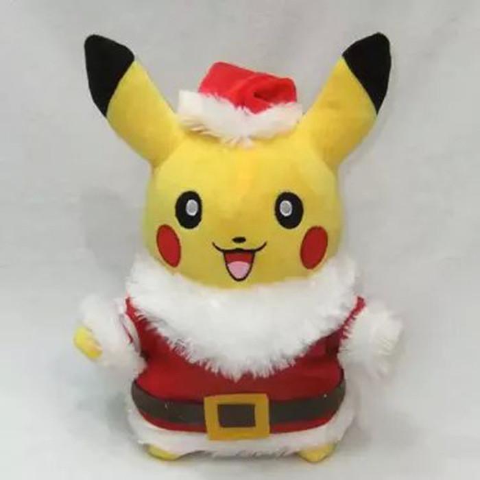 "Pokemon Pikachu Wear Santa Claus Clothes Plush Toys Stuffed Dolls Christmas Gift For Children 12""30cm(China (Mainland))"