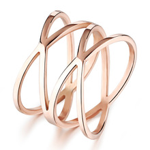 OPK Unique Shaped Woman Wedding Party Bands Classical Rose Gold Plated Cocktail Rings For Womens Fashion Jewellery461