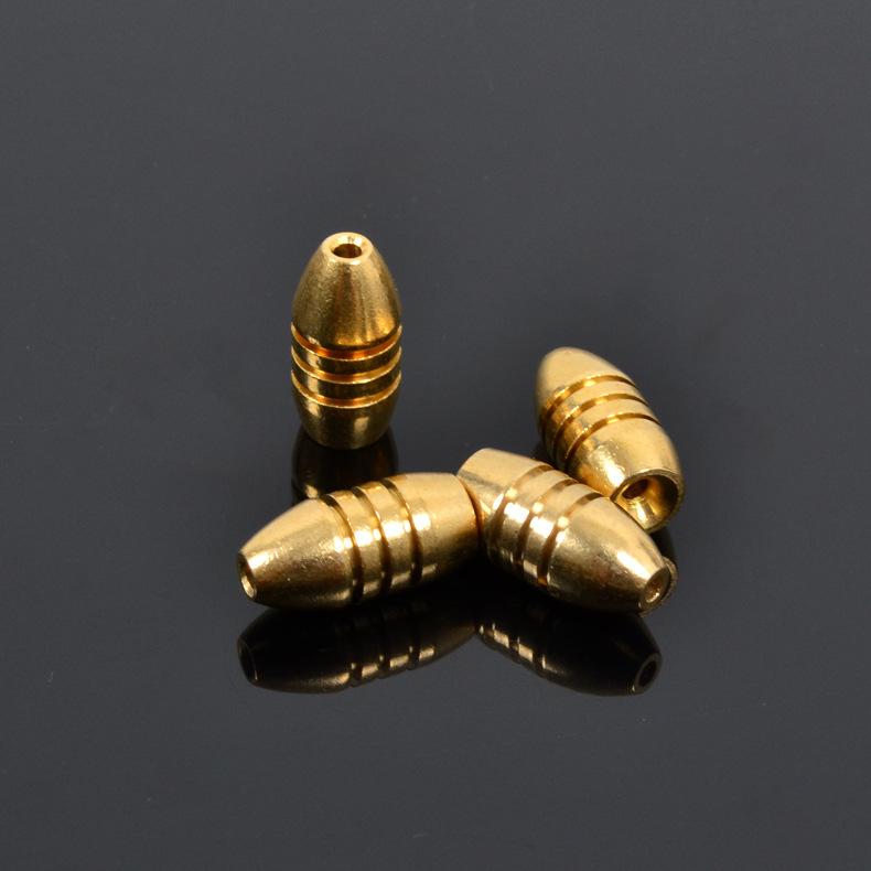 Wholesale Fishing Lure 5g Bullet Fish Sinker Copper Lead Bullets Fishing Tackle Trulinoya Cheap(China (Mainland))