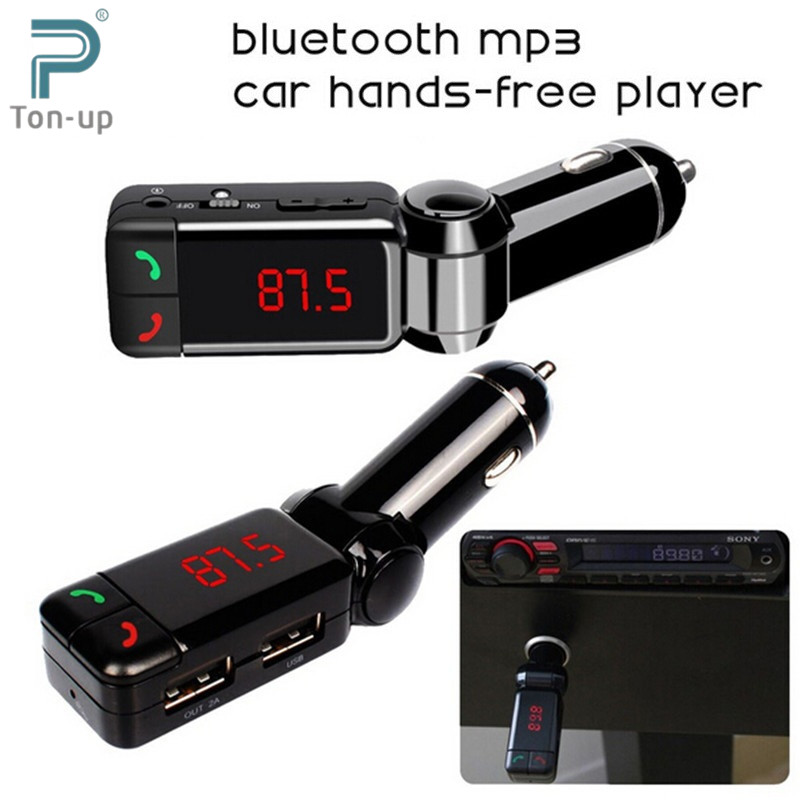 Car MP3 Audio Player Bluetooth FM Transmitter Wireless FM Modulator Car Kit HandsFree LCD Display USB Charger for iPhone Samsung(China (Mainland))