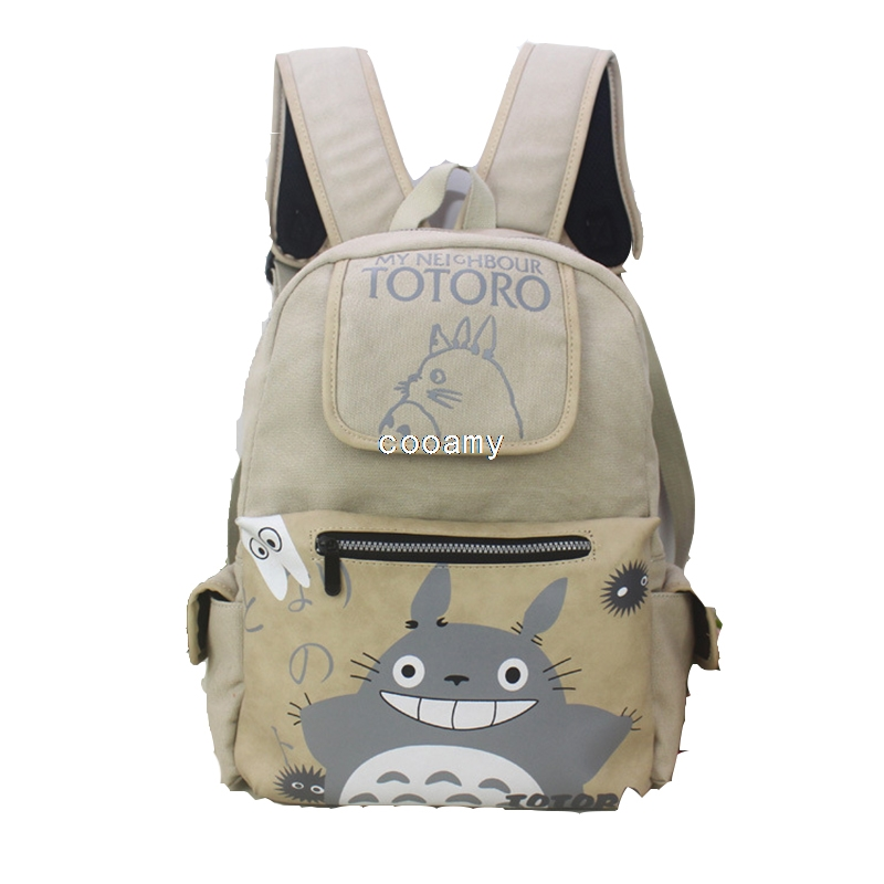 Totoro Vintage Women Canvas Backpacks For Teenage Girls School Bags Large High Quality Mochilas Escolares Fashion Men Backpack(China (Mainland))