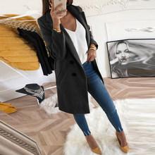 Women Autumn Winter Woollen Coat Long Sleeve Turn-Down Collar Oversize Blazer Outwear Jacket Elegant Overcoats Loose Plus Size(China)