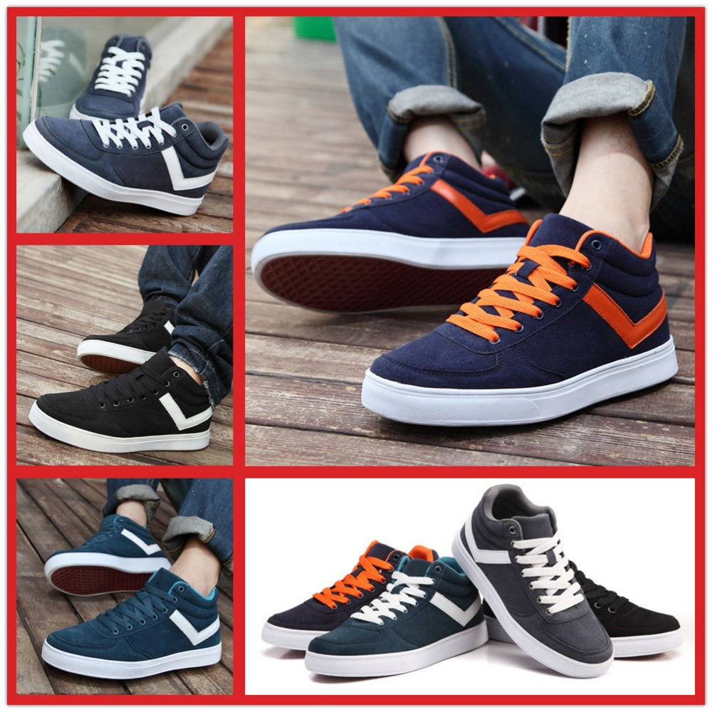 brand name new 2014 leather high top sneakers shoes