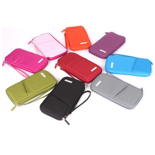 Travel Journey Document Organizer Passport ID Card Holder Ticket Credit Card Bag Clutch Wallet Coins Holder Case Free Shipping(China (Mainland))