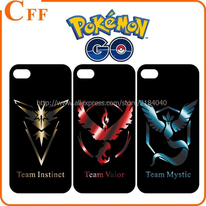 Mobile Game For Pokemons Go Team Valor Team Mystic Team Instinct Coque For iPhone 6 6S Plus TPU Phone Case Cover Caso Capa Funda(China (Mainland))