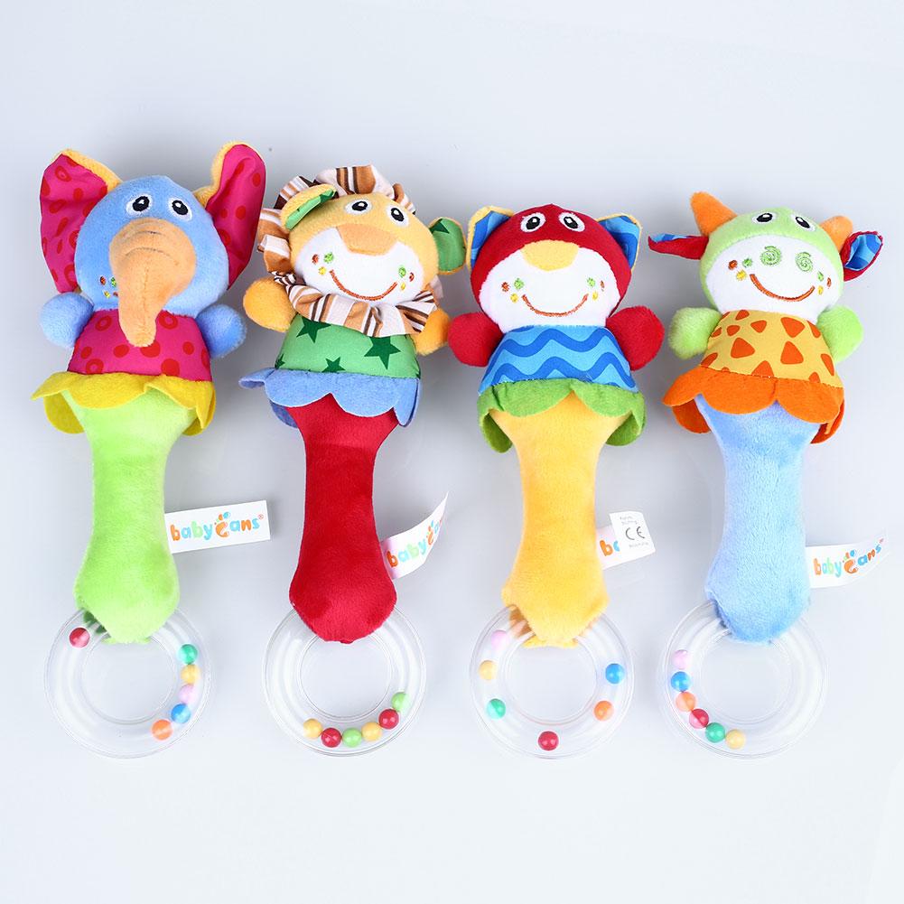 Baby Kids Soft Elephant Cat Model Handbell Developmental Toys For Infant(China (Mainland))