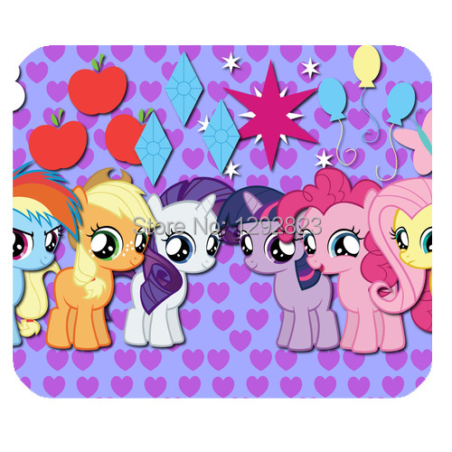 Customized My Little Pony Friendship is Magic Rectangle Heavy Thickness Gaming Non-Slip Rubber Mousepad/Mouse Pad MP294(China (Mainland))