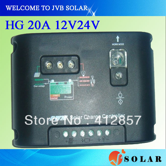 pv solar controller 20a 12v/24v universal use PWM technology lcd display for panel charger(China (Mainland))