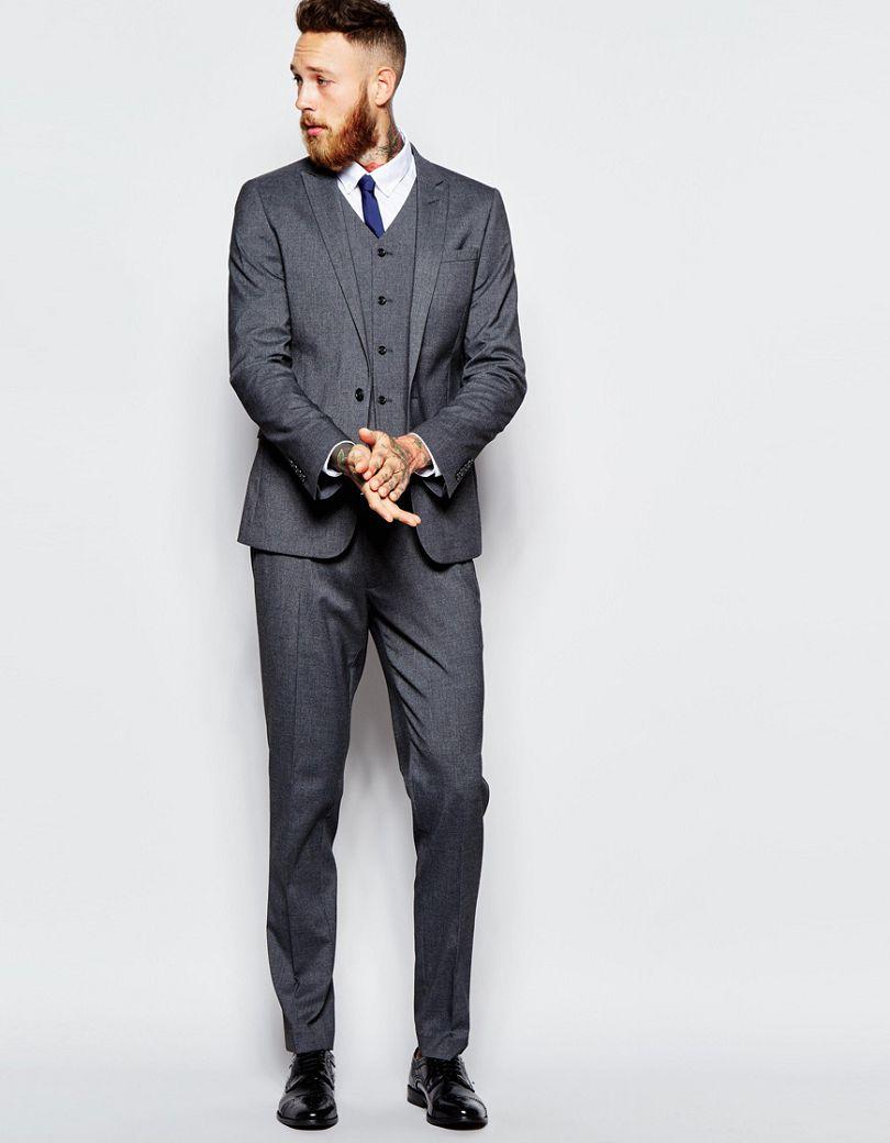 2017 maigre costume avec stretch en charbon de bois homme costume custom made smokings groomsman. Black Bedroom Furniture Sets. Home Design Ideas