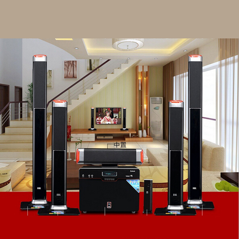 Wireless 5.1 Surround Home Theater Speakers Sound Card Fiber Coax Living Room TV Speaker(China (Mainland))