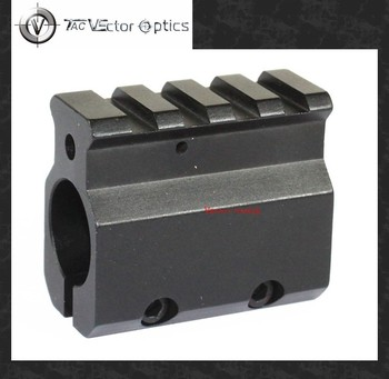 "Vector Optics Low Profile Gas Block Mount for 0.75"" Barrel with 20mm Picatinny Rail for 5.56 .223 Caliber Black"