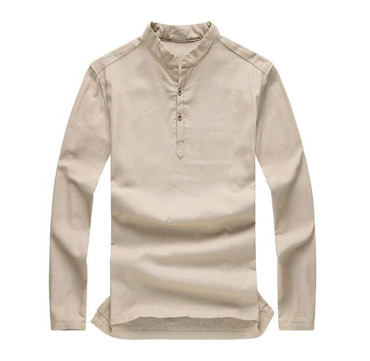 Mens Long Sleeve Pullover Shirts
