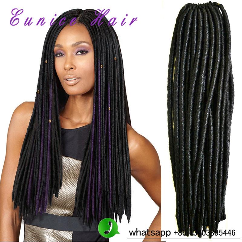 "Sensationnel Crochet NUBIAN FAUX LOCS 18""Janet Collection 2XHavana Mambo Twist Dread Faux Locs Crochet Hair dread faux locs 3PCS(China (Mainland))"