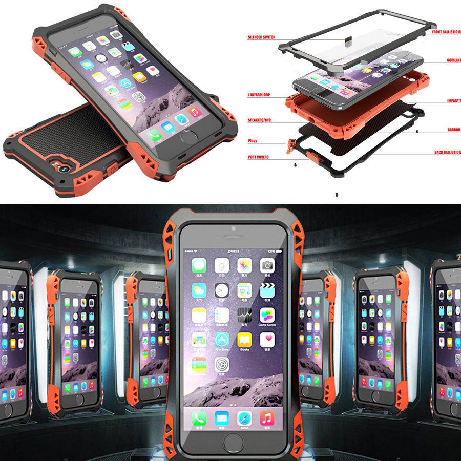 "Waterproof Shockproof Aluminum Gorilla Glass Metal Cover Case For iPhone 6 4.7"" Fingerprint Identification item location US(China (Mainland))"