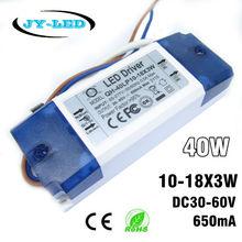 2 Pieces 10-18x3W 650mA LED Driver 30W 40W DC30-60V High Power LED Powr Supply For Floodlight(China (Mainland))