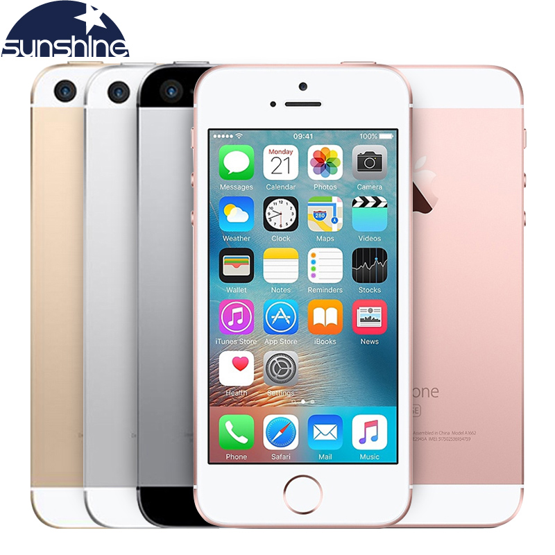 """Original Unlocked Apple iPhone SE 4G LTE Mobile Phone iOS Touch ID Chip A9 Dual Core 2G RAM 16/64GB ROM 4.0""""12.0MP Smartphone(China (Mainland))"""
