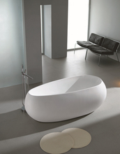 Freestanding Bathtub with Drainer UPC & CUPC Approved Acrylic Soaking Pool Round Tub White Modern Style, as Retail or Wholesale(China (Mainland))
