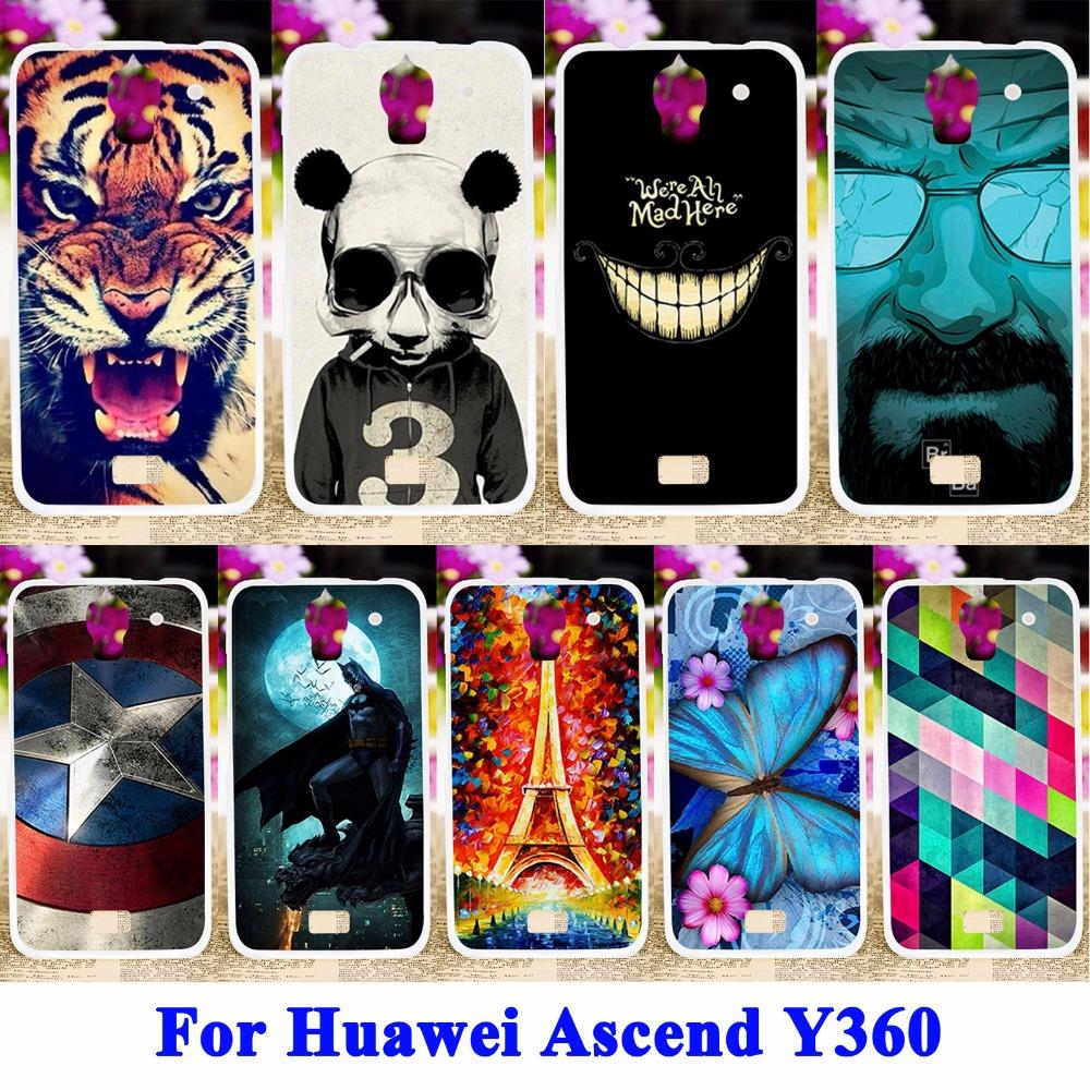 Soft TPU & Hard PC Cell Phone Cases For Huawei Ascend Y360 Y3 Y3C Y336 Y336-U02 Housing Bag Skin Sheath Shield Back Shell Cover(China (Mainland))