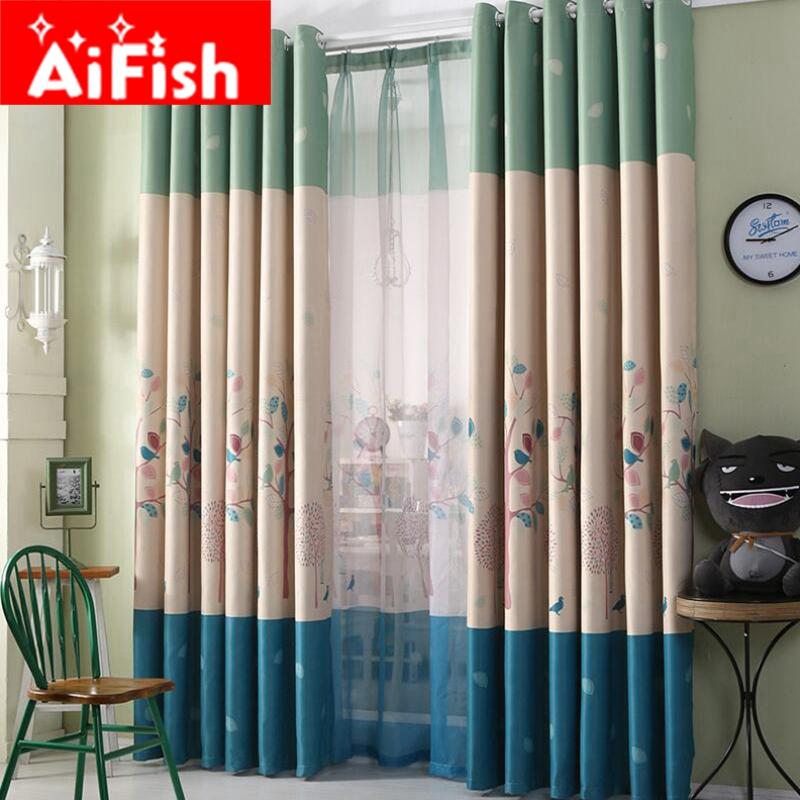 achetez en gros arbre motif rideaux en ligne des grossistes arbre motif rideaux chinois. Black Bedroom Furniture Sets. Home Design Ideas