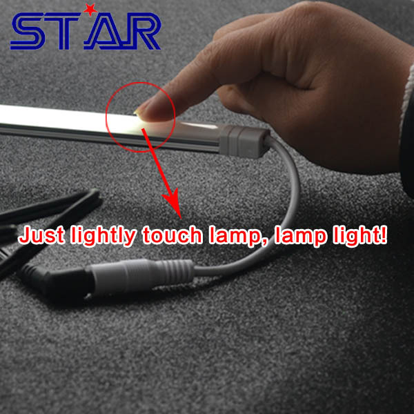 5pcs/lot 0.3m 12V 120led/m 2835 non-waterproof touch cabinet light dimmable rigid led bar light(China (Mainland))