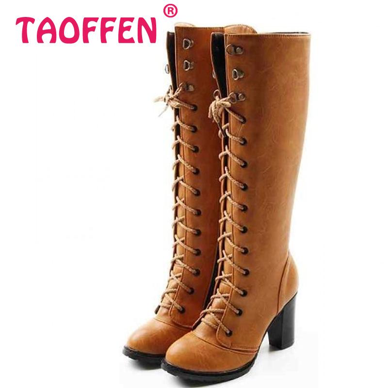 high heel knee boots fashion