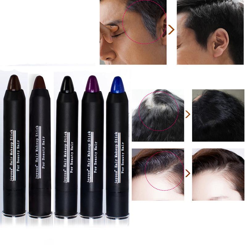 Temporary Hair Dye Color Hair Pen Cover White Hair Cream Pastel Portable Chalk Non-toxic Crayon M02253(China (Mainland))