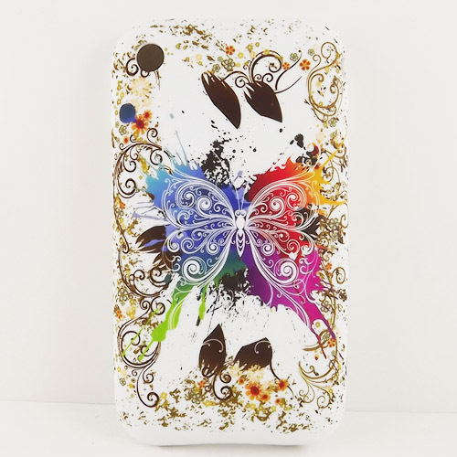 Colorful Butterfly TPU Gel Back Case Cover for Apple IPhone 3G 3GS Silicone Case Cover(China (Mainland))