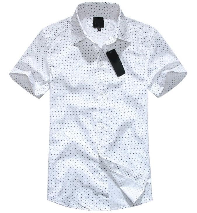 new 2015 summer fashion boutique man short sleeve shirt Men s dress leisure pure color lapel
