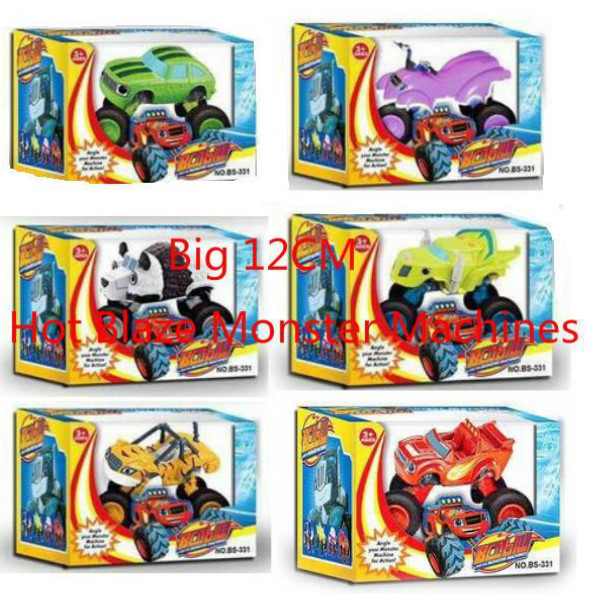 6PCS/SET Big 12CM Blaze Monster Machines Transformation Vehicle Cars Toys BEST Birthday Christmas Gifts For Kids juguetes(China (Mainland))