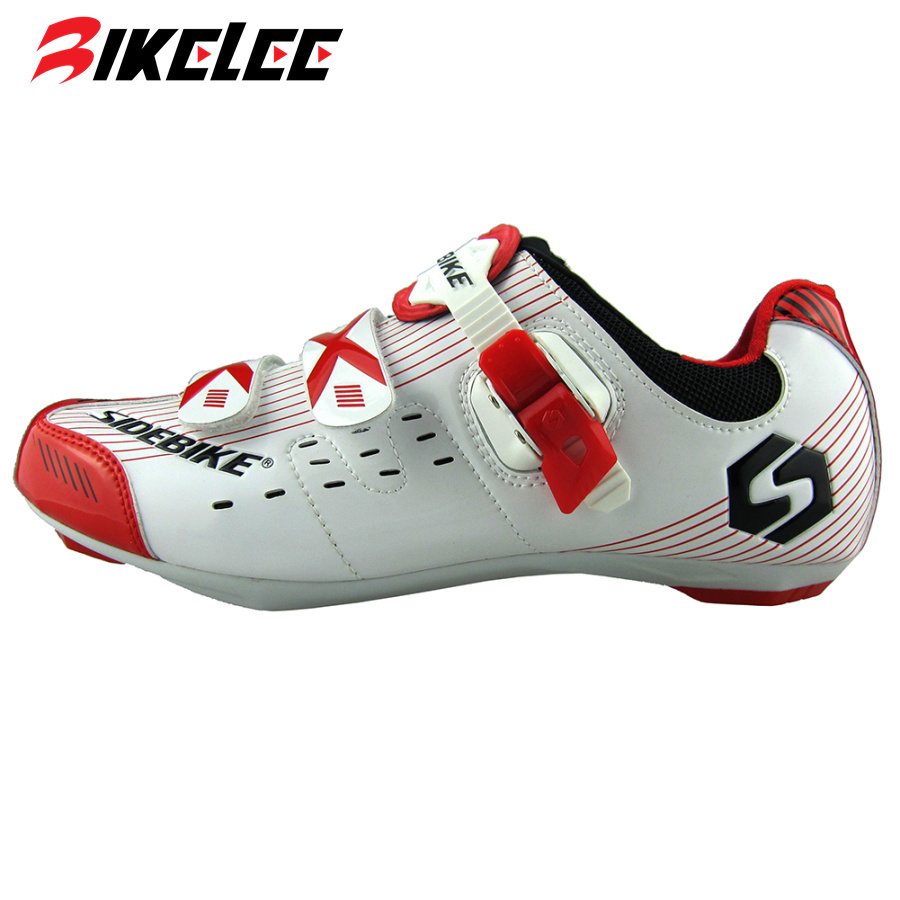 2015 New SIDEBIKE Lightweight Mens Road Bike Athletic Cycling Shoes Bicycle Outdoor Sports Racing Shoes Self-locking Sneakers