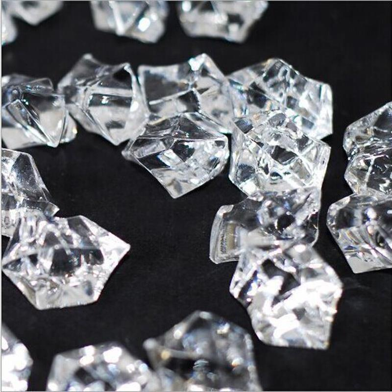 2.5CM*1.8CM 50pcs Wedding Party Display Artificial Acrylic Ice Irregular Crystal Clear Decoration(China (Mainland))