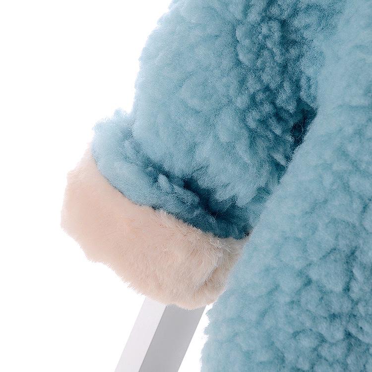 Скидки на 2016 Новый двухсторонний Износ Девочка Одежду С Длинными Ухо Плюс Velve Толщиной Зима Теплая Outwer Детей Костюм Кардиган пальто С Капюшоном