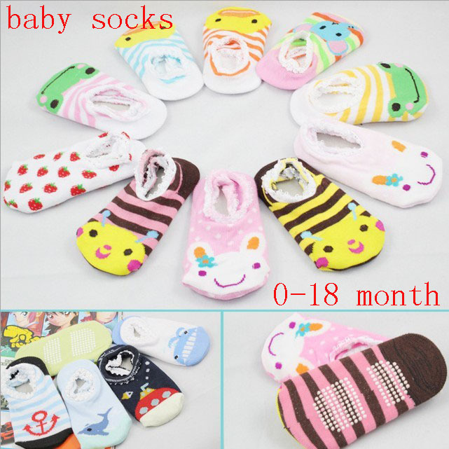 2016 Top Fashion Limited Free Shipping (10 Pieces/lot) Japan Orders,cartoon Form Lace Relent Non-slip Floor Socks Baby Ship(China (Mainland))