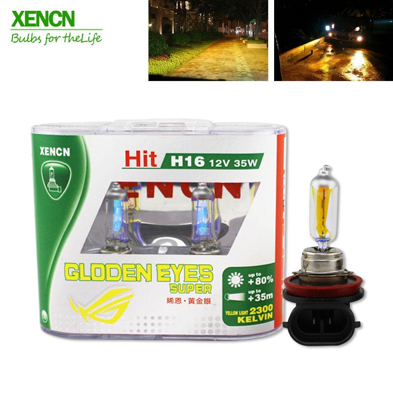XENCN H16 12V 35W 2300K Golden Eyes Super Yellow Light Car Fog Bulb for GMC Cadillac Dodge Scion Chrysler Pontiac Jeep(China (Mainland))