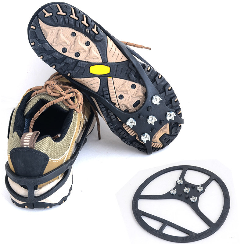 Outdoor climbing equipment snow shoe crampons slip claw snow ice climbing spikes sprocket simple catch(China (Mainland))