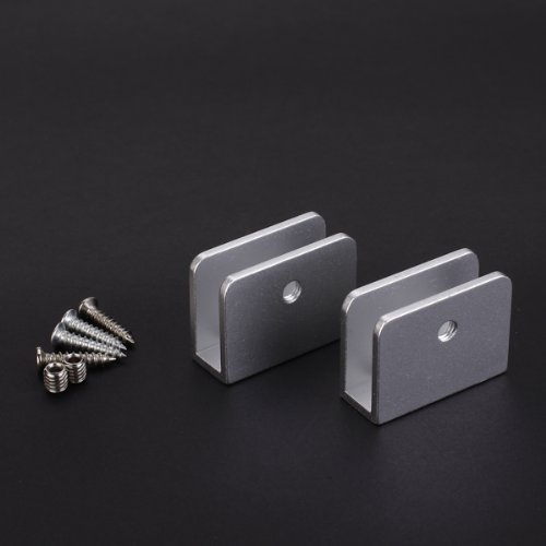 Wholesale price 2 Rectangular-Shape Glass Clamp Glass Shelf Clamp Clip w/ Screws<br><br>Aliexpress
