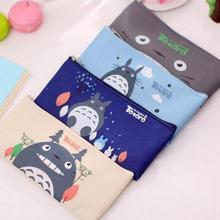 Cute Kawaii Fabric Pencil Case Lovely Cartoon Totoro Pen Bags For Kids Gift School Supplies Free Shipping 1202(China (Mainland))